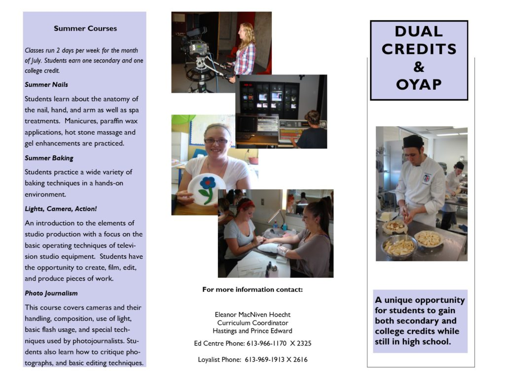 OYAP and Dual Credits