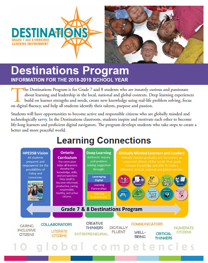 Destinations Program