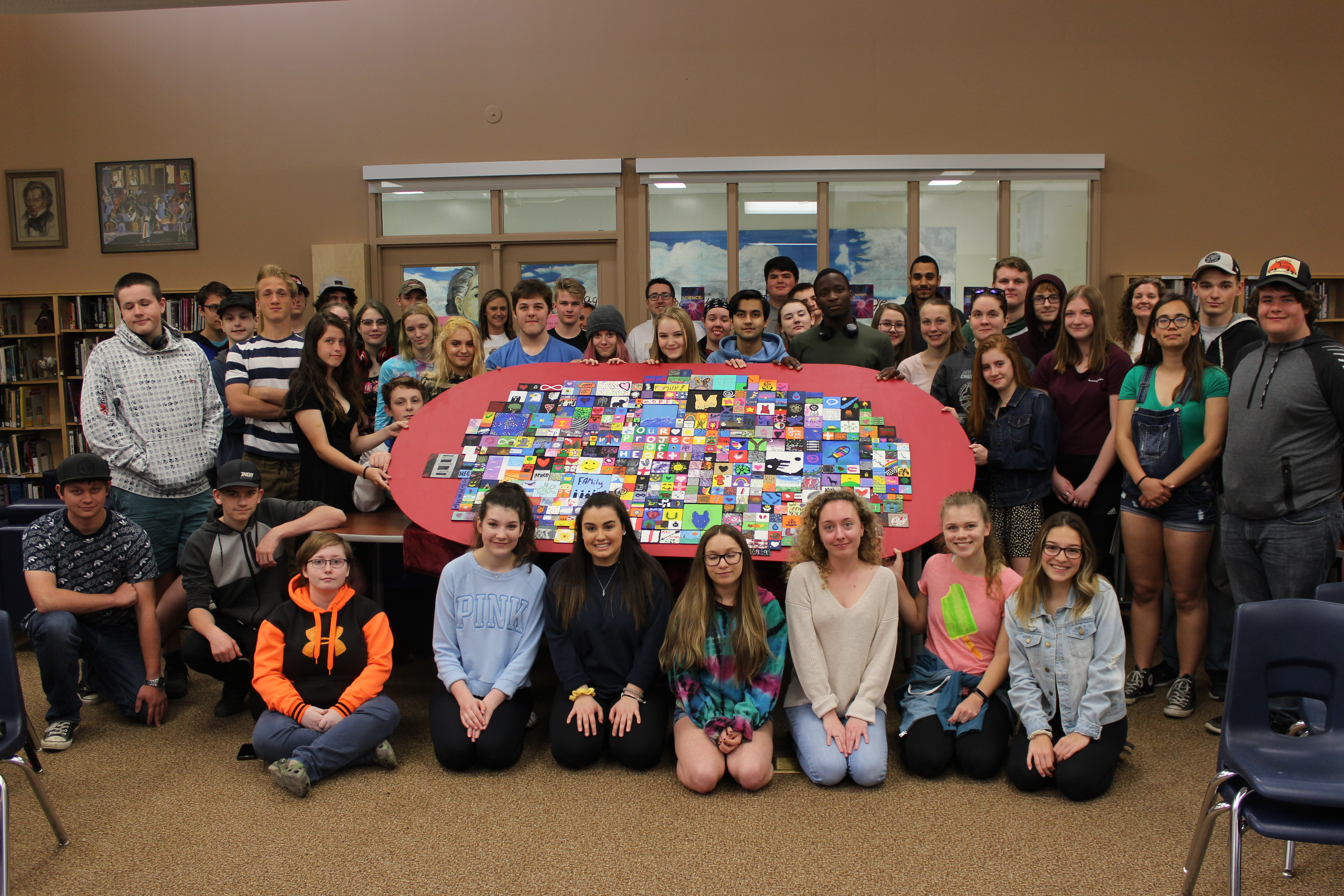 group photo of students who participated in Project of Heart