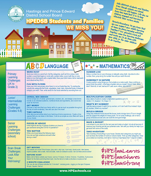 image of Learning at Home newspaper ad