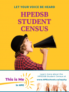 This is Me in HPE Student Census poster