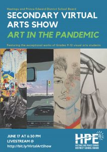 Secondary Student Virtual Art Show Poster