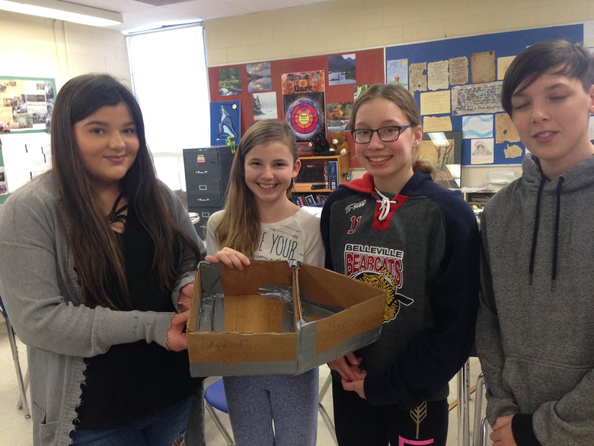 photo of a prototype cardboard boat
