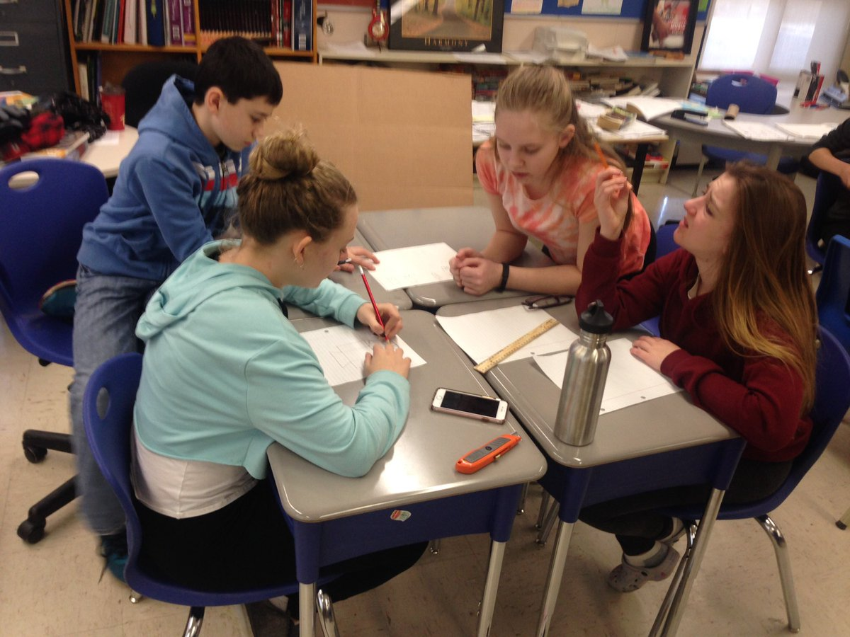 students working together creating a design