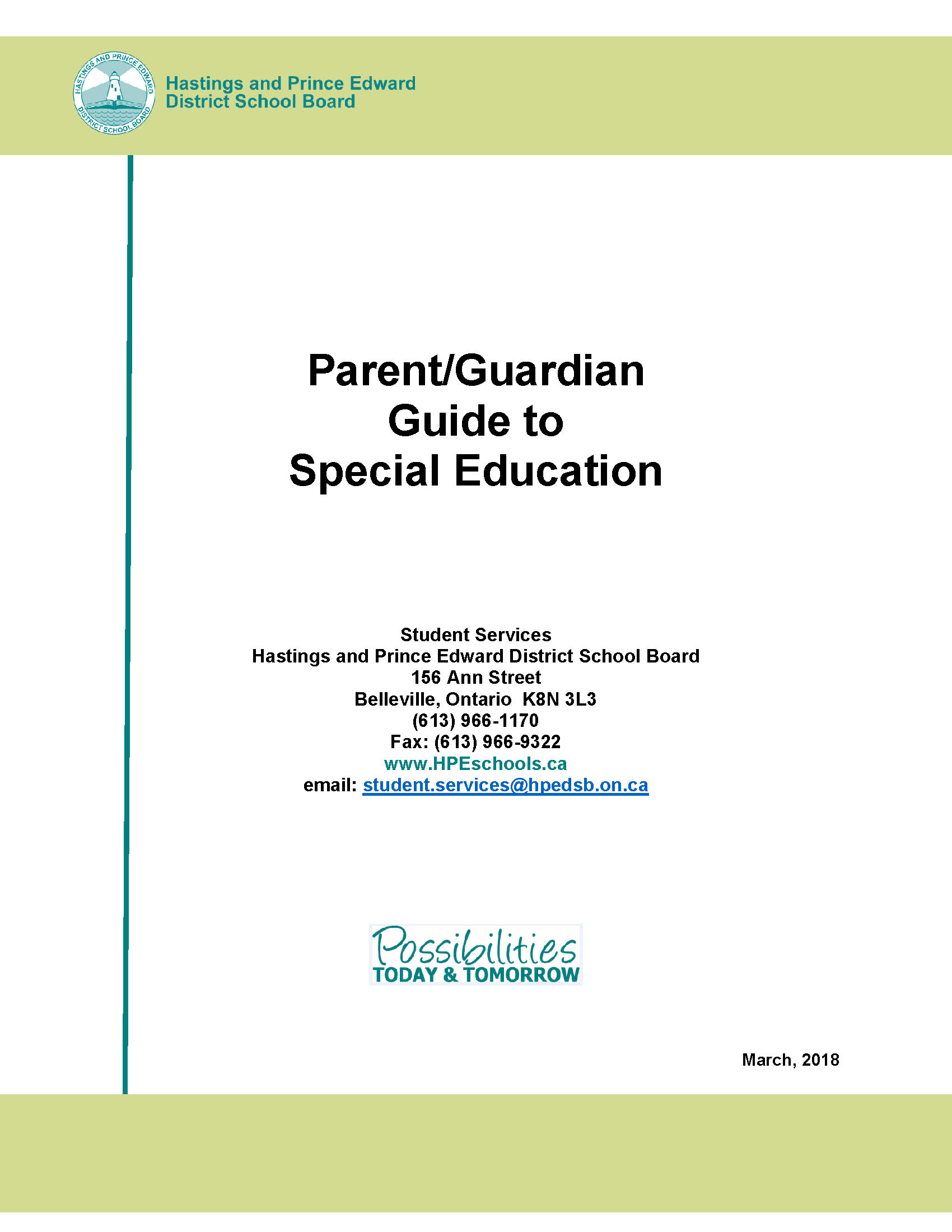 Parent/Guardian Guide to Special Education