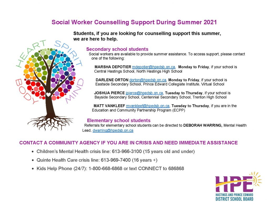Summer Mental Health Supports