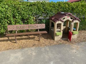 buddy bench in JK play area
